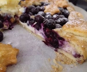 american, blueberries, and dessert image
