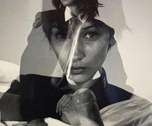 black and white, model, and bella hadid image