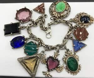 mid century jewelry, heraldic jewelry, and charm bracelet image