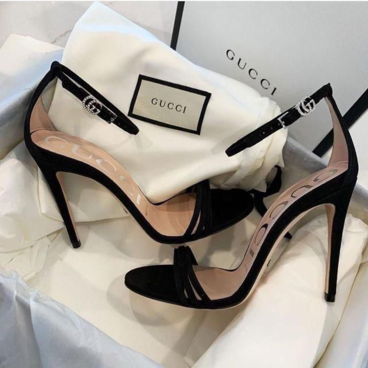 shoes, gucci, and heels image