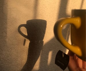 cup, shadow, and te image