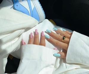 fashion, nails, and pastels image