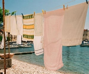 laundry, sea, and summer image