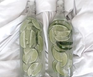 bottle, lime, and water image