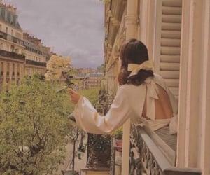 paris, flowers, and fashion image