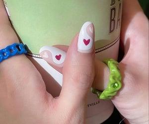 green, moodboard, and nails image