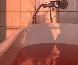 peach, colors, and shower image