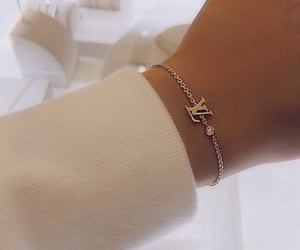 bracelet, jewelry, and Louis Vuitton image