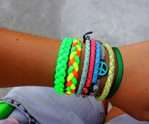 bracelet, green, and picture image