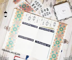 agenda, lettering, and notebook image