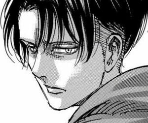 attack on titan, levi ackerman, and manga image