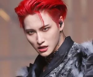 asian boy, handsome, and red hair image