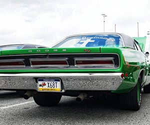 dodge, green, and muscle cars image