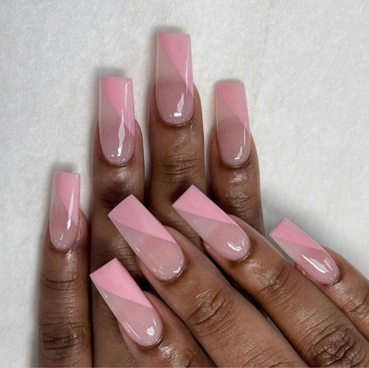 girly, rectangular, and manicure image