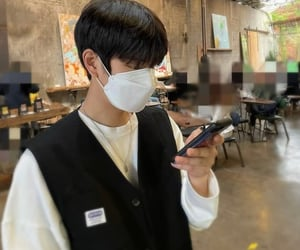 black hair, mask, and seungmin image