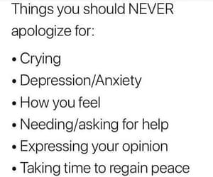 anxiety, apologize, and depression image