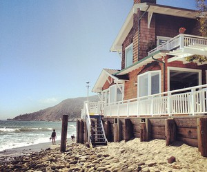 beach, house, and beautiful image