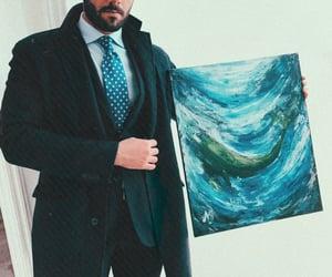 amazing, blue, and man image