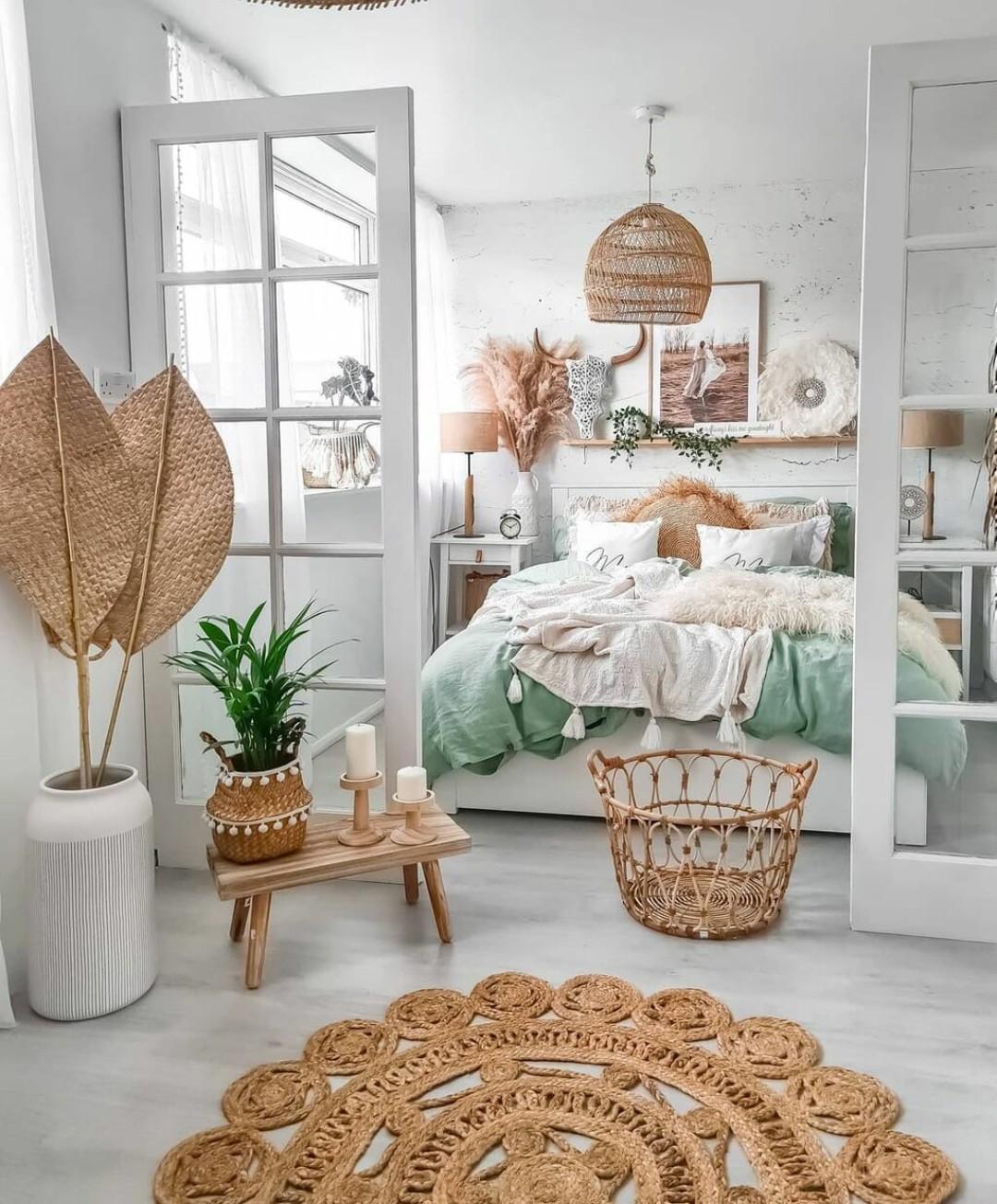 bedroom, boho, and home image