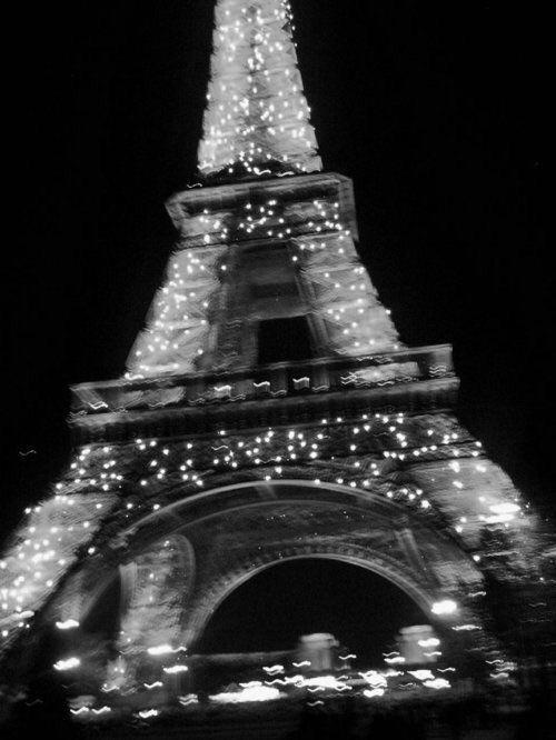 paris, eiffel tower, and light image