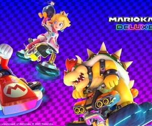 Bowser, mario, and mario kart image