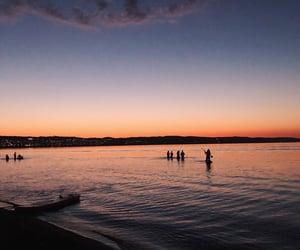lake, night, and summer image