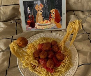 movie, chill, and pasta image