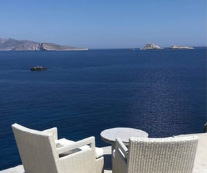 Greece, landscape, and ocean image