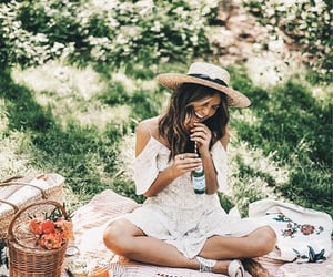 aesthetic, spring, and picnic image
