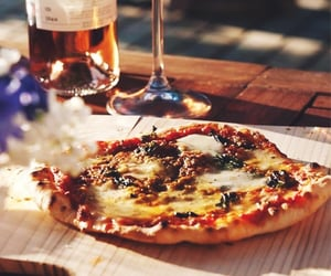 dining, food, and pizza image