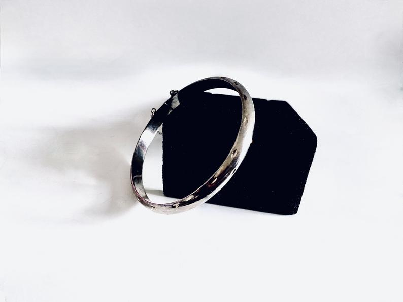 etsy, cuff bracelet, and sterling silver image