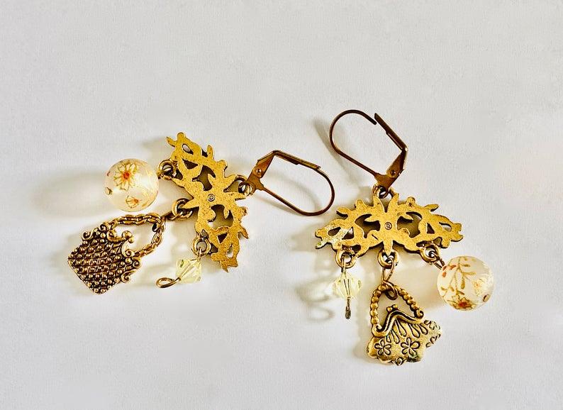 etsy, chandelier earrings, and boho earrings image