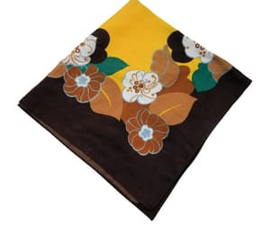 etsy, yellow flowers, and vintage scarf image
