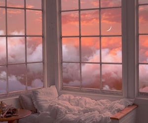 moon, aesthetic, and bed image