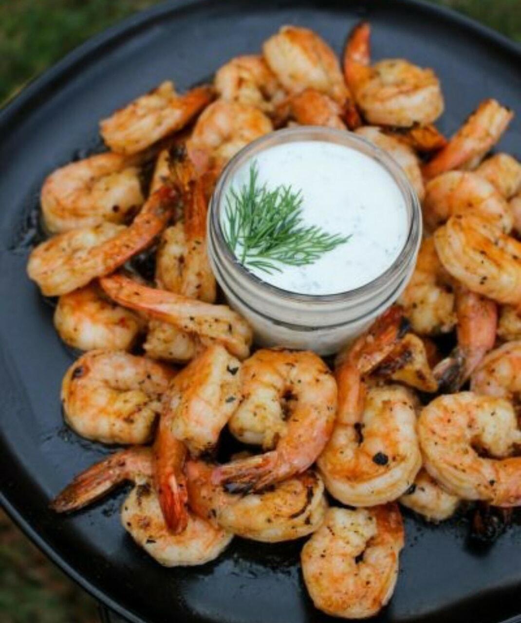 shrimp and food image