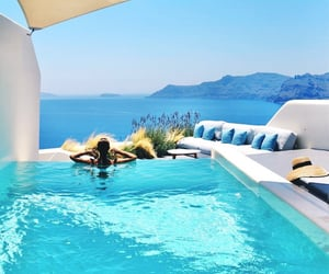 Greece, luxury, and ocean image