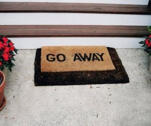 doormat, go away, and homie image