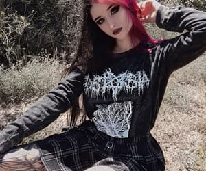 black, gothic, and punk image