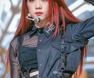 red hair, cute, and jisoo image