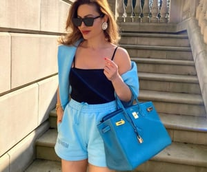 blue shorts, popular, and pretty image