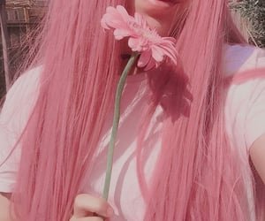 aesthetic, flower, and girl image