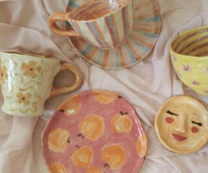 cup, mug, and peach image