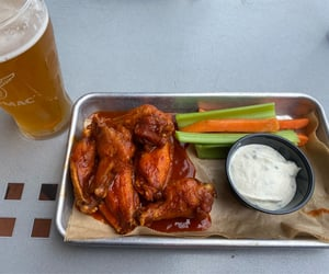 beer, buffalo, and carrots image