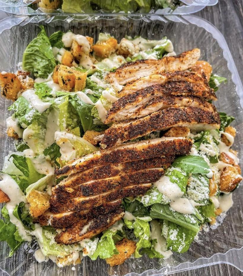 caesar, Chicken, and dinner image
