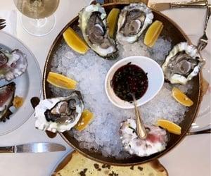 drink, seafood, and food image