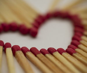 love, heart, and matches image