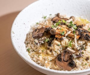 Mushroom Risotto With Truffle And Parmesan