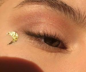 crescent, makeup, and nature image