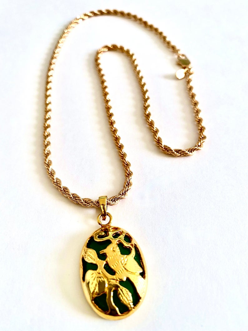 etsy, faux jade, and necklace image