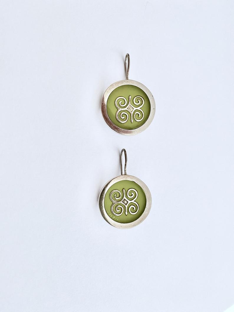etsy, one of a kind, and silver earrings image
